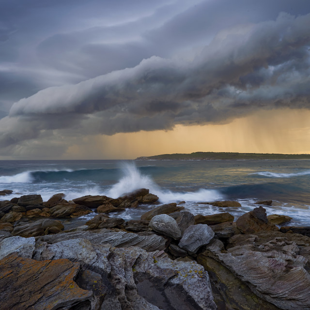 """Stormy Seascape."" stock image"