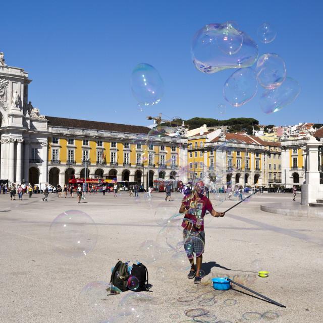 """Lisbon Commerce Square"" stock image"