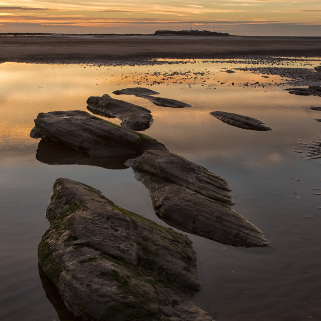 """Hilbre sunset"" stock image"