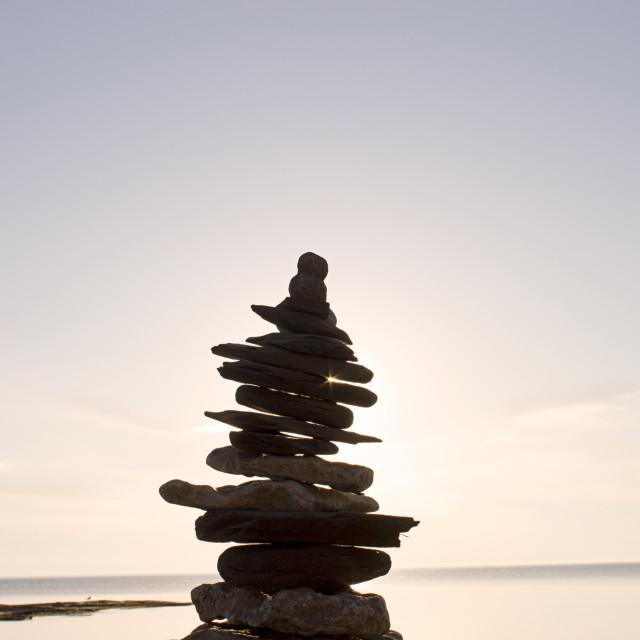 """""""Sunset Zen"""" stock image"""