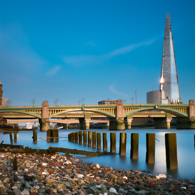 """London Bridge and the Shard"" stock image"