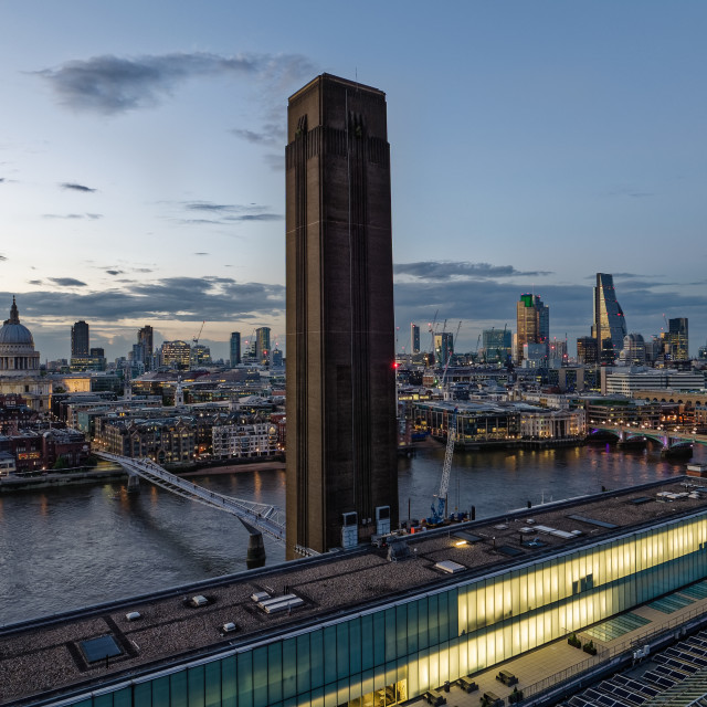 """View towards the City of London from Switch House"" stock image"