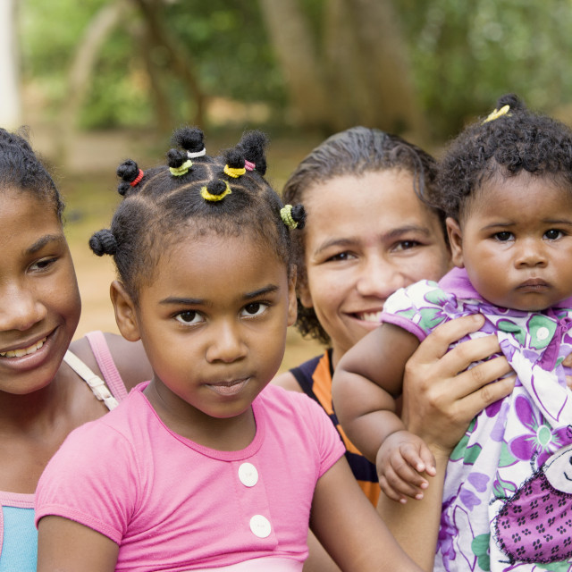 """""""African american family portrait"""" stock image"""