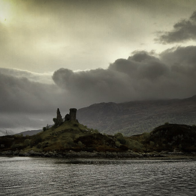 """Castle Ruins in Scotland"" stock image"