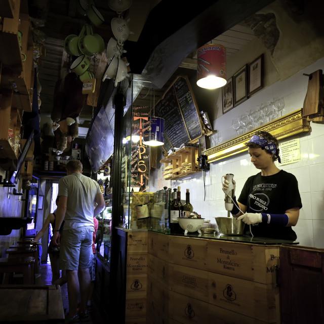 """Restaurant in Rome"" stock image"