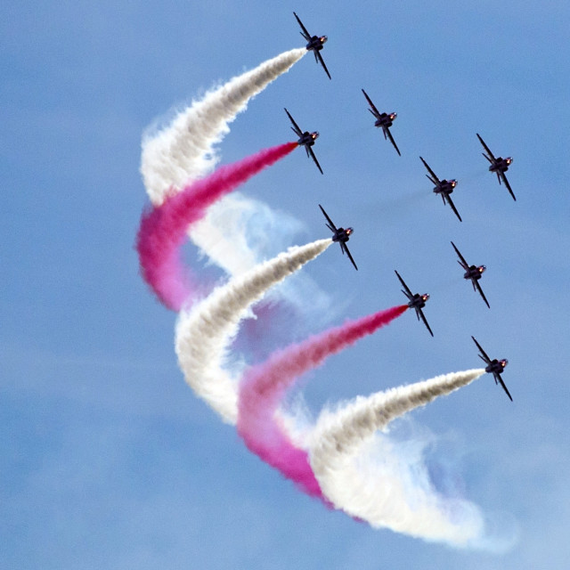 """""""Red Arrows The Clacton Collection 3"""" stock image"""
