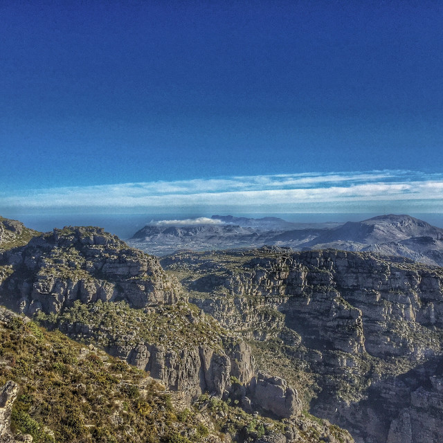 """View from Table Mountain"" stock image"