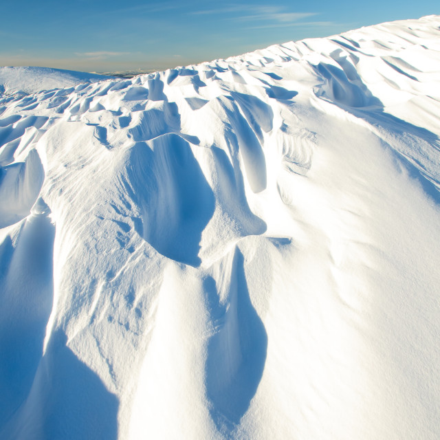 """Snowfield"" stock image"