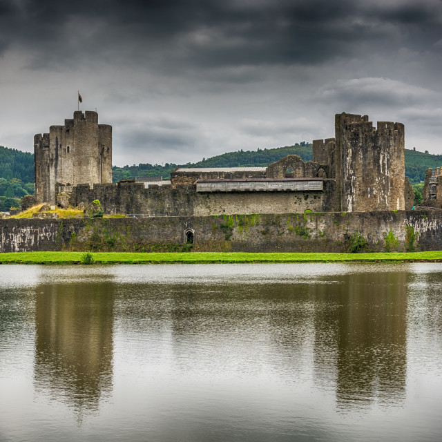 """Caerphilly Castle North View 2"" stock image"