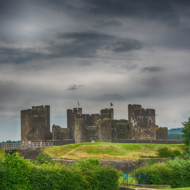 """Caerphilly Castle East View 3"" stock image"