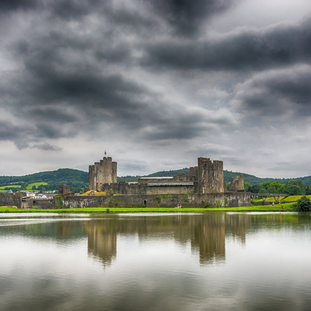 """Caerphilly Castle North View 1"" stock image"