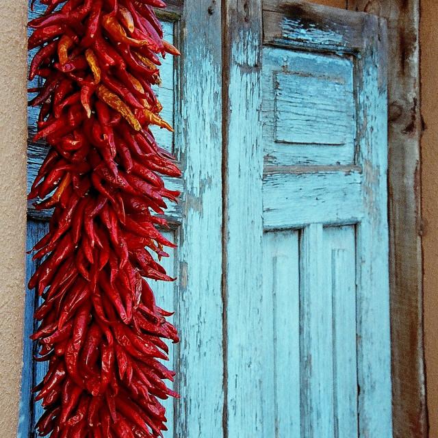 """Peppers and Door."" stock image"