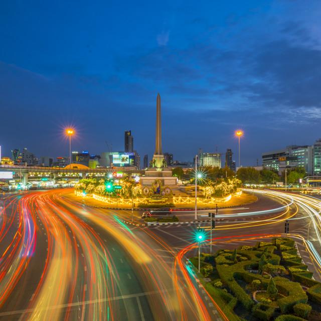 """Cityscape in Bangkok, Thailand"" stock image"