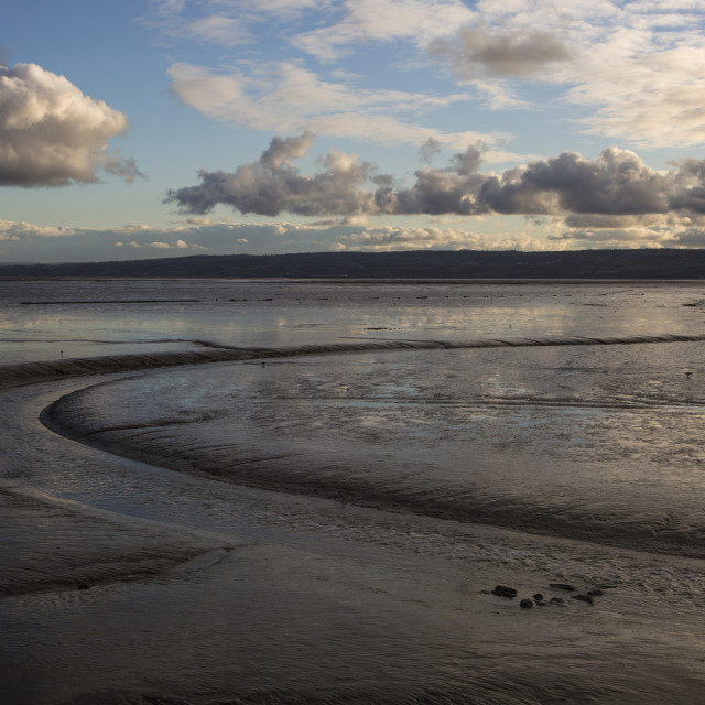 """River Dee Mudflats"" stock image"