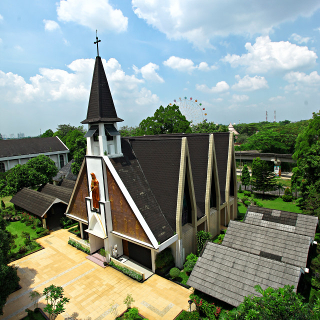 """Church of Santa Chatarina Jakarta"" stock image"