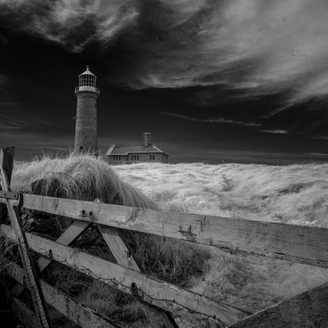 """""""Lundy Old Light"""" stock image"""