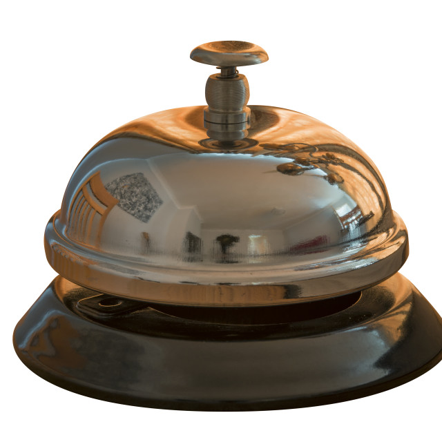 """Isolated Service Bell"" stock image"