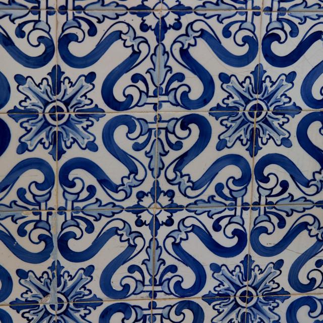 """Portuguese wall tiles"" stock image"