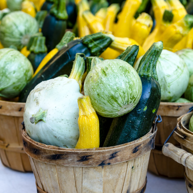 """Farmers Market Fruits and Vegetables"" stock image"