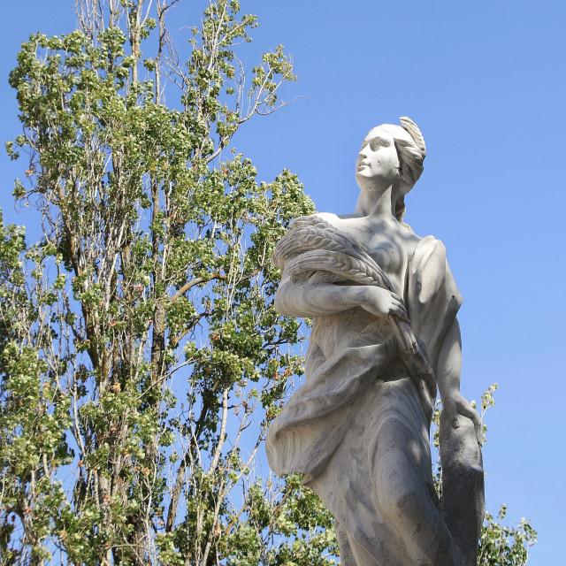 """""""Arising statue"""" stock image"""