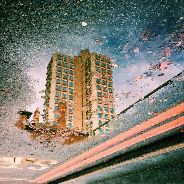 """High rise reflection"" stock image"