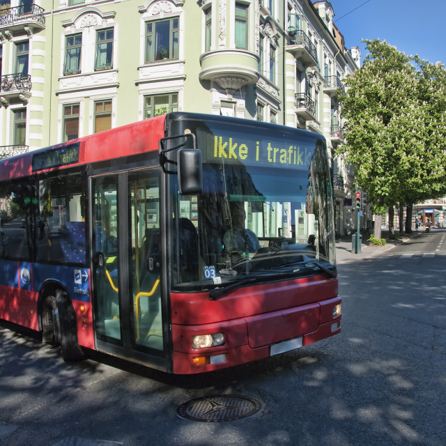 """""""Oslo Transportation System, Norway, May 2009"""" stock image"""