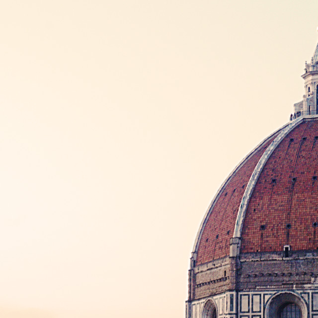 """The Duomo in Florence with copy space"" stock image"