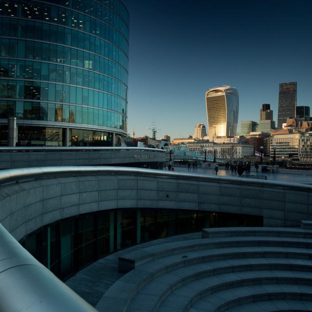 """London financial centre at sunset."" stock image"