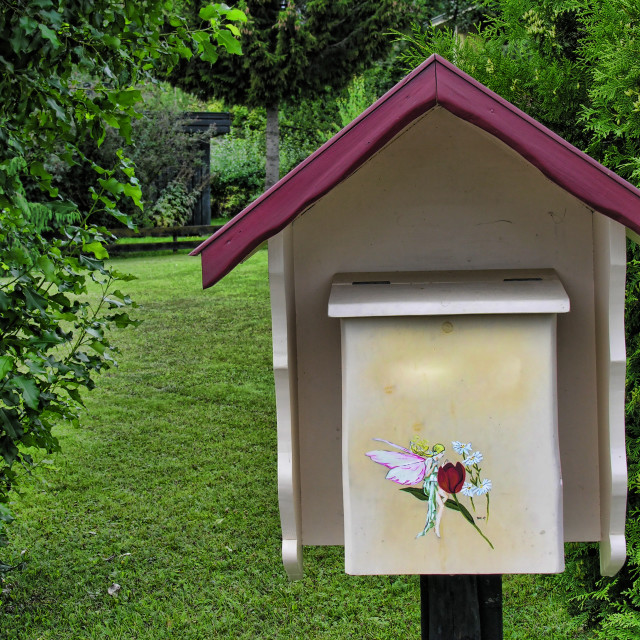 """Post Box near Lillehammer, Norway"" stock image"