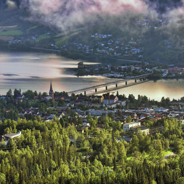 """""""Countryside of Lillehammer, Norway"""" stock image"""