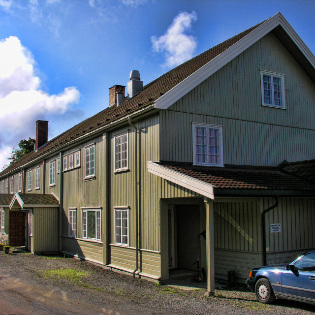"""""""Lillehammer House, Norway"""" stock image"""