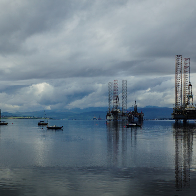 """""""Cromarty Harbour"""" stock image"""