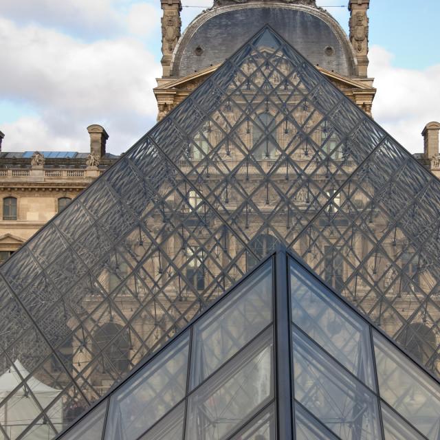 """""""Louvre, Paris"""" stock image"""