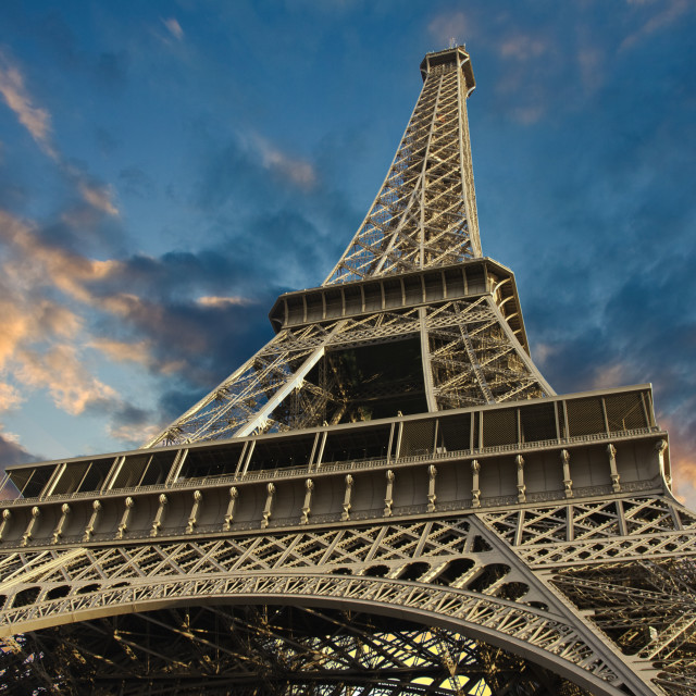 """""""Eiffel Tower at Sunset in Paris, France"""" stock image"""