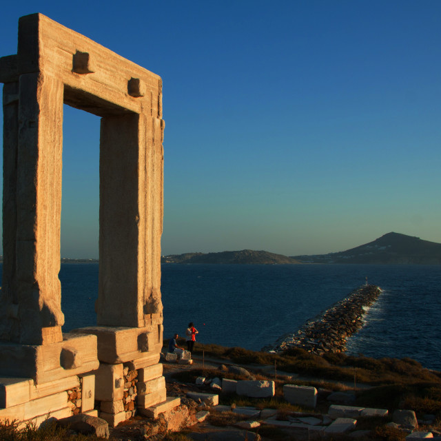 """Naxos Temple of Apollon"" stock image"