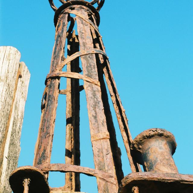 """Sun, Sea, Wood, Iron and Salt"" stock image"
