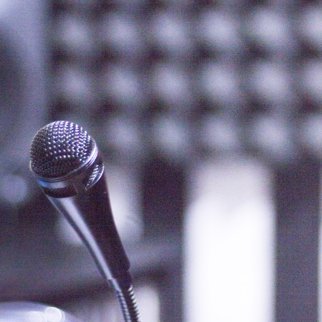 """Sound recording studio mic"" stock image"