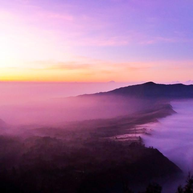 """sunrise at mount bromo"" stock image"