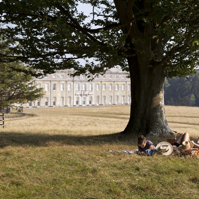 """Petworth House, Summer day"" stock image"