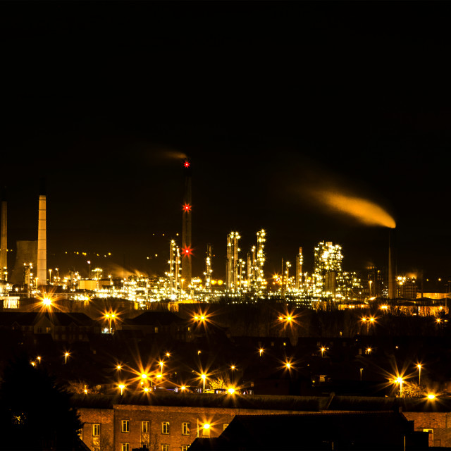 """Ellesmere Port Refinery"" stock image"