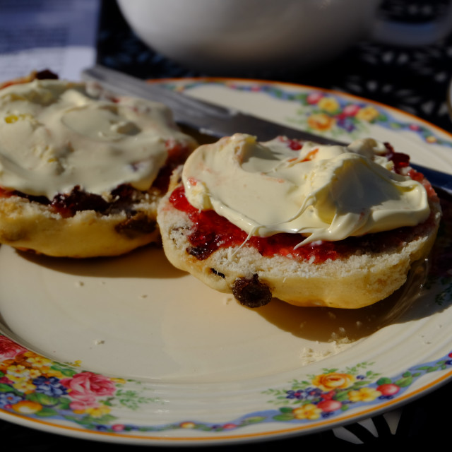 """Cream Tea"" stock image"