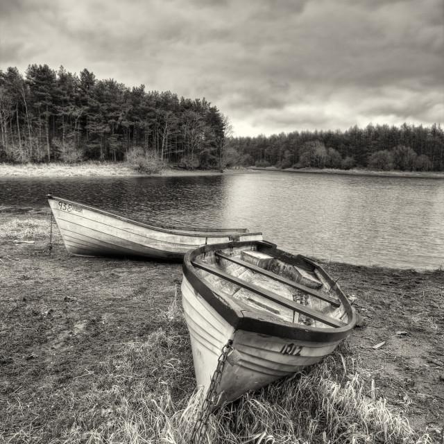 """Lakeside boats"" stock image"