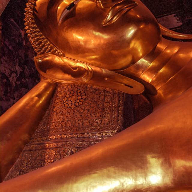 """Laying Buddha, Bangkok, thailand"" stock image"