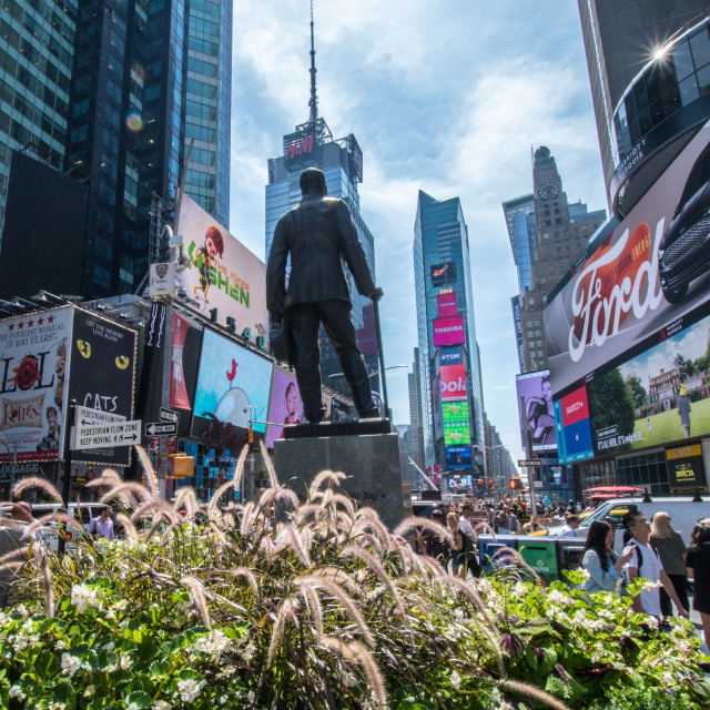 """""""Times Square Statue"""" stock image"""