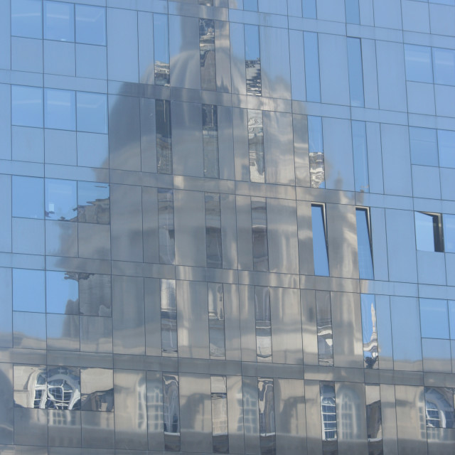"""""""Port of liverpool building reflected"""" stock image"""