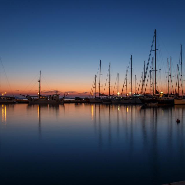 """""""Naxos - sunset"""" stock image"""