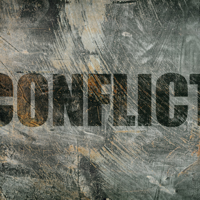 """conflict"" stock image"