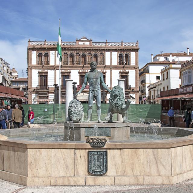 """""""Plaza del Socorro"""" stock image"""