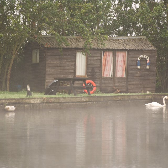 """""""Haven-hut on the Norfolk Broads"""" stock image"""