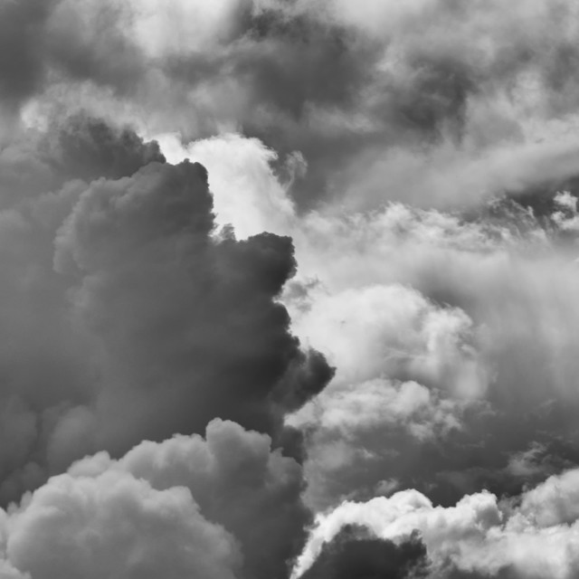 """""""Head in The Clouds. Face in the clouds"""" stock image"""